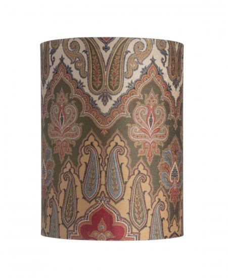 Ebb&Flow - Lampeskjerm, brocade, grønn/Gull, Ø30, bordlampe