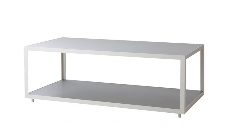 Cane-line - Level Sofabord Hvit, betong - 122x62