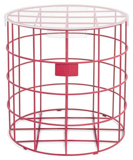 Cage Fight Sidebord - Pink, Ø41,5