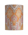 Ebb&Flow - Lampeskjerm, brocade, gul/pink, Ø30, bordlampe