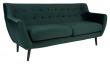 Monte 3-pers, Sofa - Mørkegrønn Velour