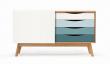 Woodman - Avon Skjenk m/fargede skuffer - Spruse