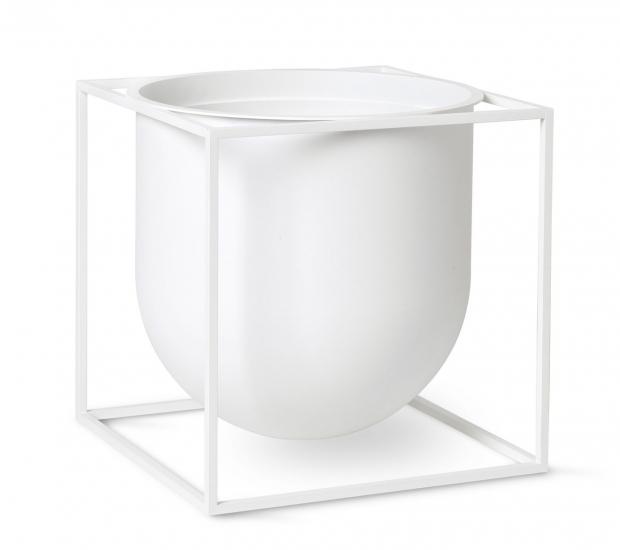 by Lassen - Kubus Flowerpot 23, hvit metall