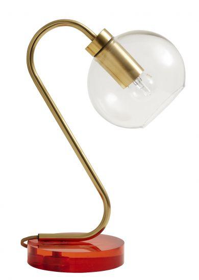 Nordal Candy Bordlampe - Orange/Messing