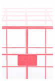 Cage Fight Sidebord - Pink, 41x41