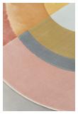 Flip The Rainbow Teppe - Rosa/Gul, Ø160