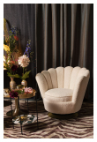 Mother of All Shells Loungestol - Teddy Offwhite