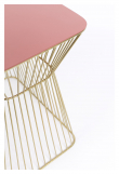 No Offence Sidebord - Rosa/Messing, 45x29,5