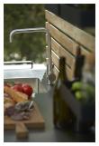 Cane-line Drop kjøkkenbordplate inkl. vask og arMattur, Rustfritt stål