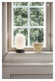 Halo Design TWIST Bordlampe, Opal, Sort