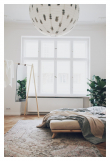 Senza Sengeramme Sort, Comfort Futon madrass, Offwhite, 180x200