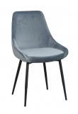 Sierra Spisebordstol, Blå Velur
