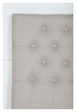 Furuvik sengegavl, Beige stoff, B:120