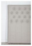 Furuvik sengegavl, Beige stoff, B:180