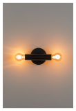 Zuiver Hawk Væglampe - Sort