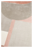 Zuiver Hilton Teppe - Grå/Pink, Ø240
