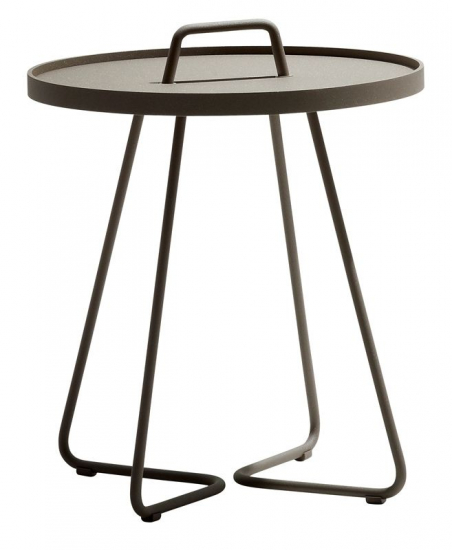 Cane-line - On-the-move Sidebord - Taupe - Ø44