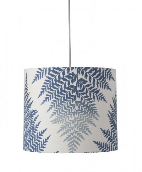 Ebb&Flow - Lampeskjerm, fern leaves graphic, indigo, Ø35