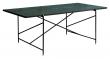 HANDVÄRK - Spisebord - Grønn Marmor m/messing ramme - 96x184