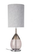 Ebb&Flow - Lute lampefot, obsidian/platin, Sølv base