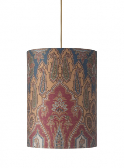 Ebb&Flow - Lampeskjerm, brocade, blue/red, Ø30, loftlampe