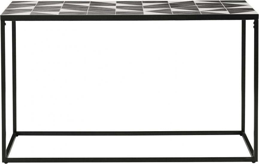 Stanley Konsolbord - Sort/Hvid Mosaik, 130x44