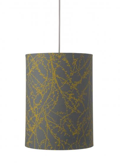 Ebb&Flow - Lampeskjerm, branches, grå/okker, Ø30
