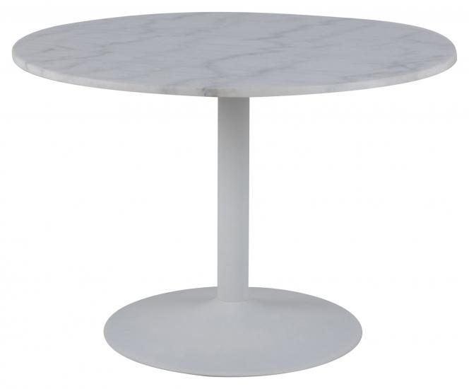 Cadiz Spisebord Ø110 m/trompetfot - Hvit Guangxi marmor