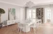 Temahome - Dusk Spisebord - Hvit høyglans - 130x130