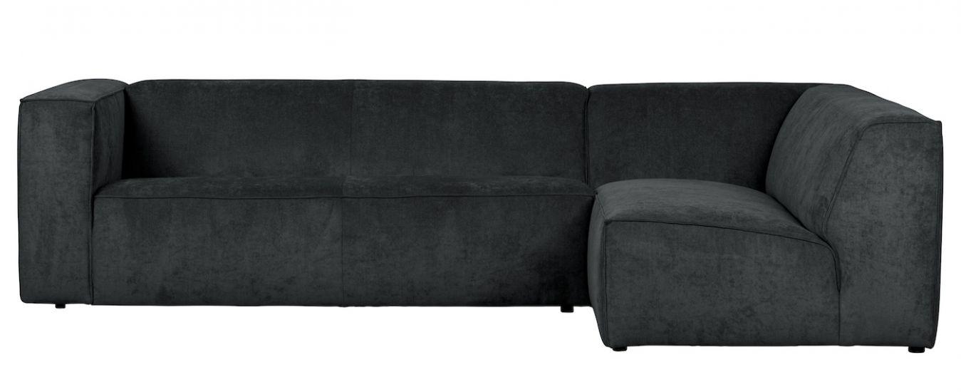 Lazy Sofa m. høyre Sjeselong - Anthracit Fløyel
