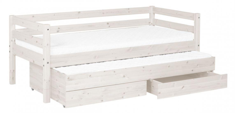 Flexa Classic Børneseng  m. sengeskuffer - hvid