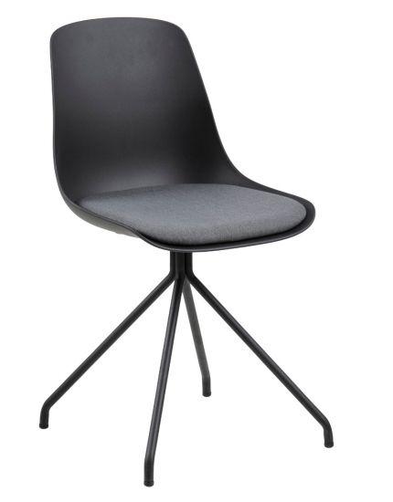 Eva Spisebordstol - Sort Plastikk