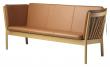 FDB Møbler J149 3-pers, Sofa - Eik/Cognac Skinn