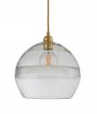 Ebb&Flow - Check mini stripe Krystall Rowan pendel m. Gull Ø28