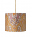 Ebb&Flow - Lampeskjerm, brocade, gul/pink, Ø35, loftlampe