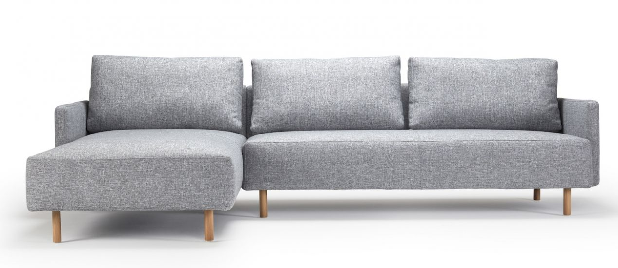 Kragelund Askov Square Sofa, venstre sjeselong Grått Stoff, Eik
