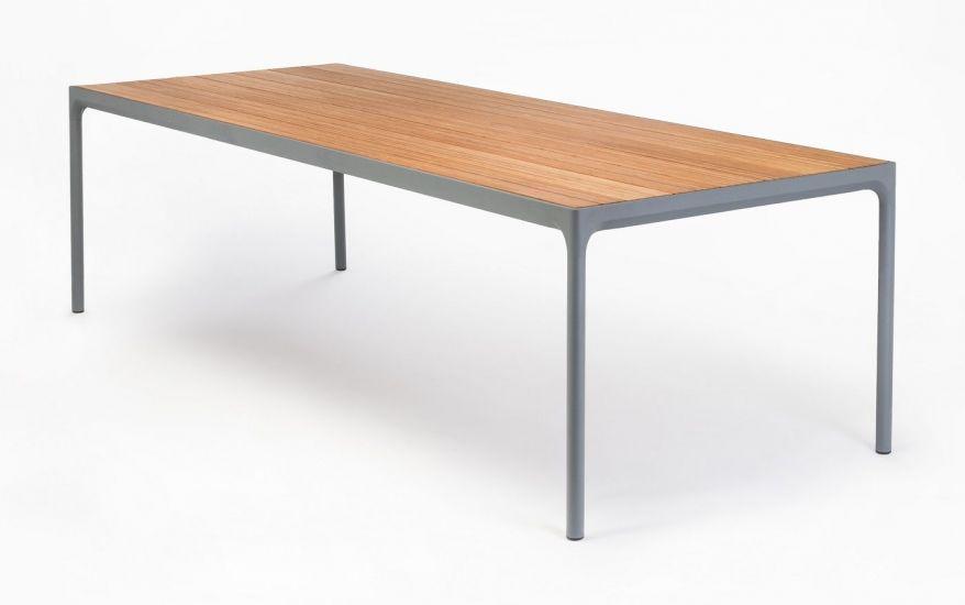 HOUE - FOUR Hagebord 270x90 - Mørk grå/Bambus