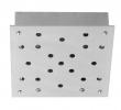 Ebb&Flow - Ceiling box, square, S, Sølv