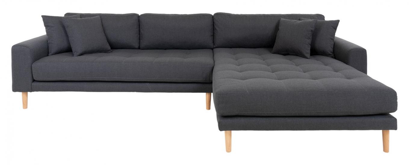 Lido Lounge Sofa m, høyrevendt sjeselong - Mørkegrå