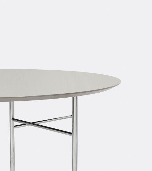 ferm LIVING - Mingle Bordplate oval 150x75 - Lysegrå