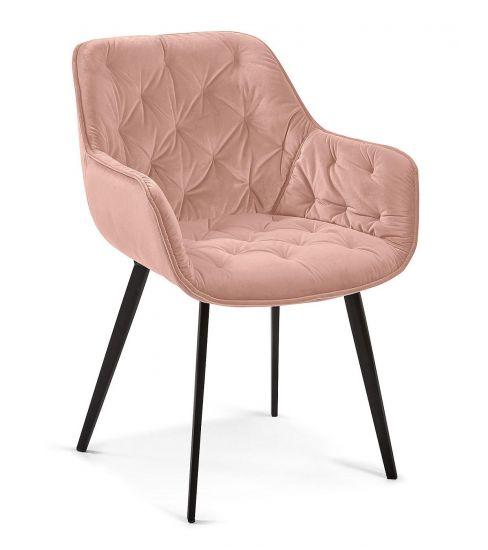 Kave Home - Mulder Spisebordsstol - Pink velour