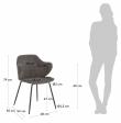 Kave Home Suanne Spisebordstol - Mørkegrå Fløyel