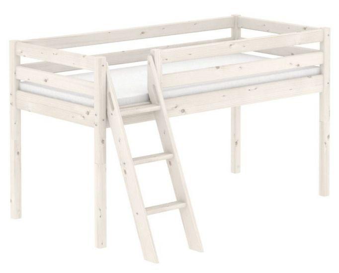 Flexa Classic Halvhøj seng - hvid
