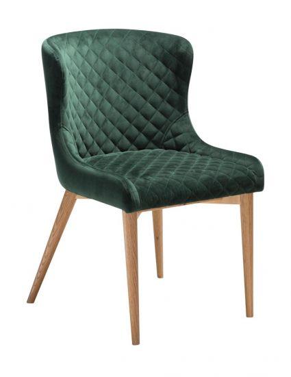 DAN-FORM - Vetro Spisebordsstol, emerald grønn fløyel, ege ben