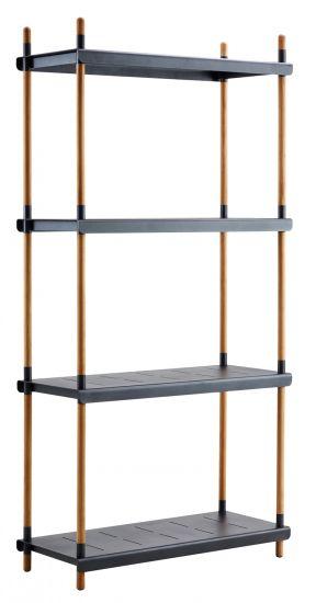 Cane-line - Frame Reolsystem m/4 hyller - Grå