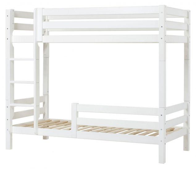 Hoppekids Premium Køyeseng m. 2x sengehest, Hvit, 90x200