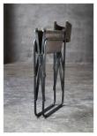 Fuhrhome Hollywood Spisebordsstol - Grått semsket skinn/metall