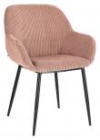 Kave Home Konna Spisebordstol - Pink Fløyel