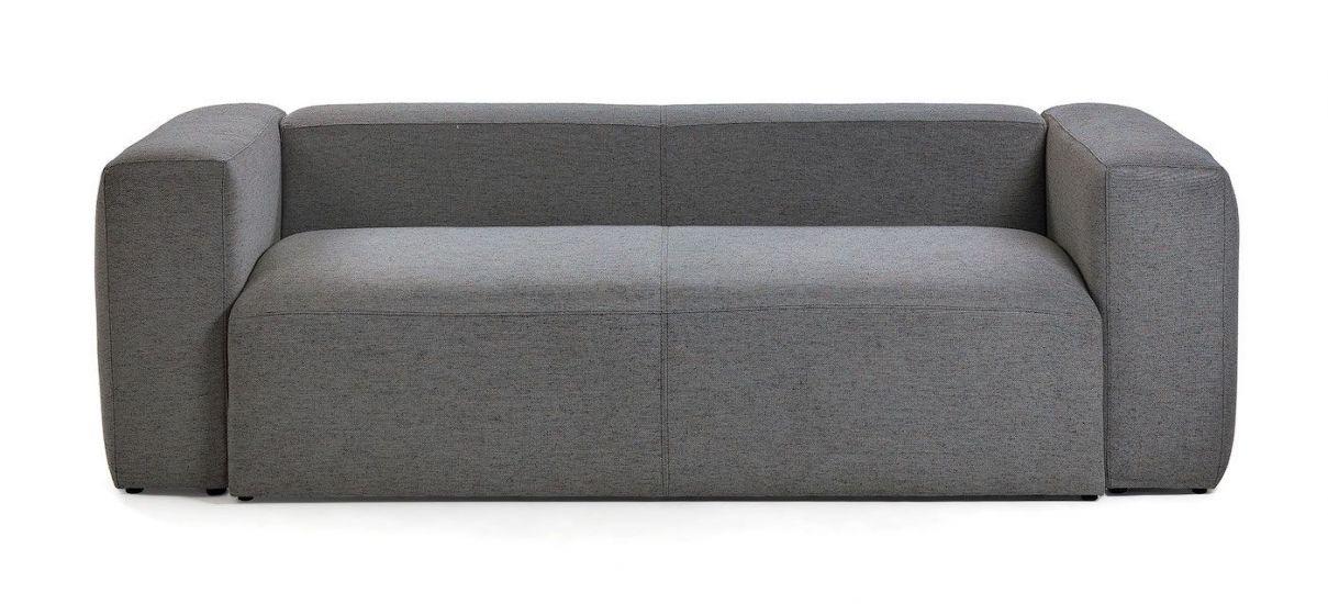 Kave Home - Blok 2-pers. Sofa - Mørk grå