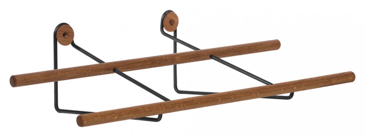 We Do Wood Shoe Rack Small - Eik/Sort